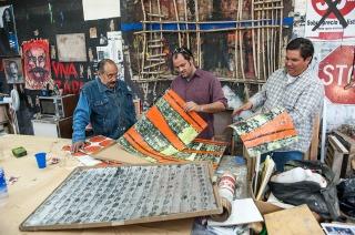 Alvaro Blancarte, artist, at his studio in Tecate, Mexico. © Stefan Falke http://www.stefanfalke.com/