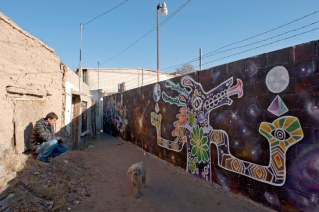 Melo Nonsense and his murals in Ciudad Juarez, Mexico. Melo's goal is to cover the entire block where he lives with murals; it used to be a very dangerous neighborhood not long ago. According to Melo he has lost about 20 friends to local violence. His work can also be seen all over Juarez.