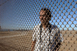 Border poet and activist Daniel Watman used to organize cross border poetry readings on both sides of the border fence in Playa Tijuana. Since the US built a second high security fence people cannot meet and speak to each other from country to country anymore. He now conducts poem readings with binoculars and sign language.